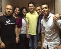 باسم يوسف مع احمد مكى و  أحمد حلمي و ماجد الكدواني و لطفي لبيب